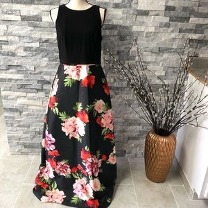 NWT S.L.fashion floral evening dress size 8